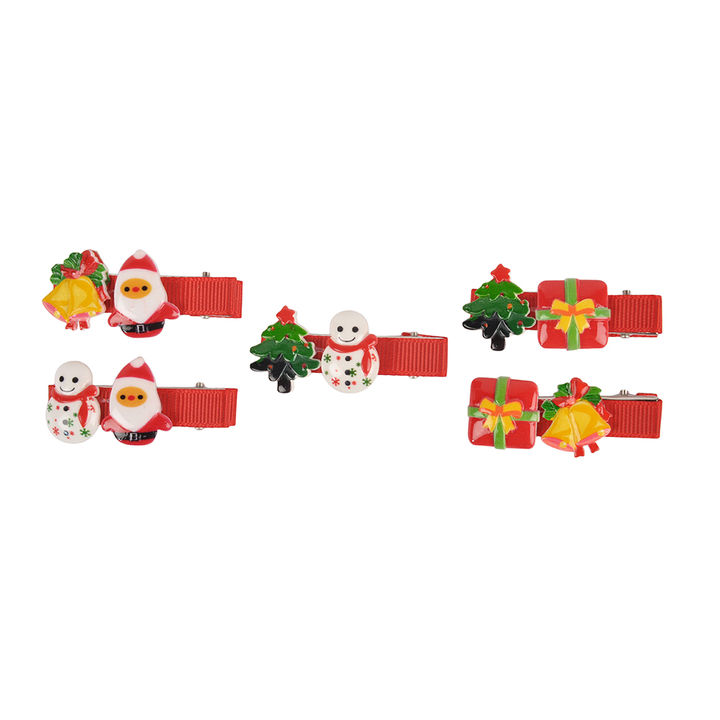 Christmas Hair Clips.Christmas Hair Clips Combo Pack Of 5