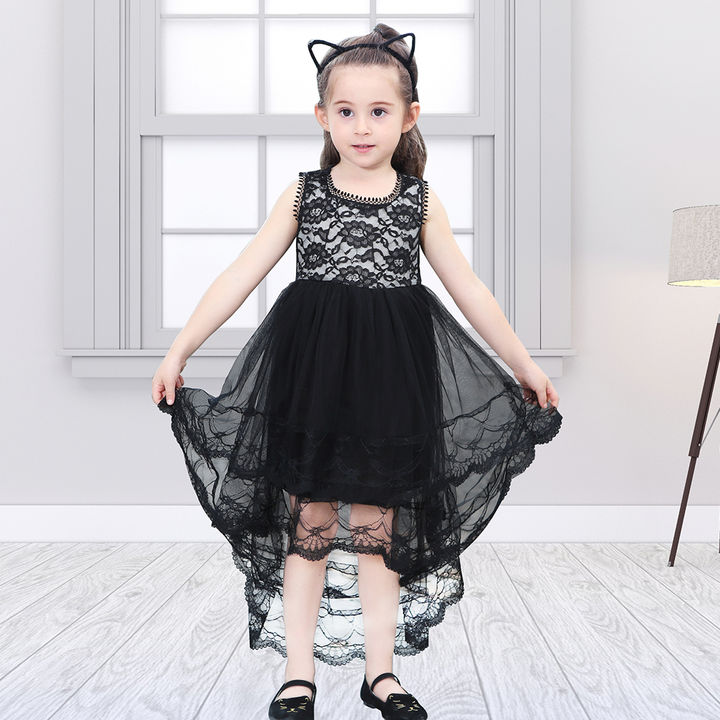8cd09b51e74dc Black High -Low Sleeveless Dress