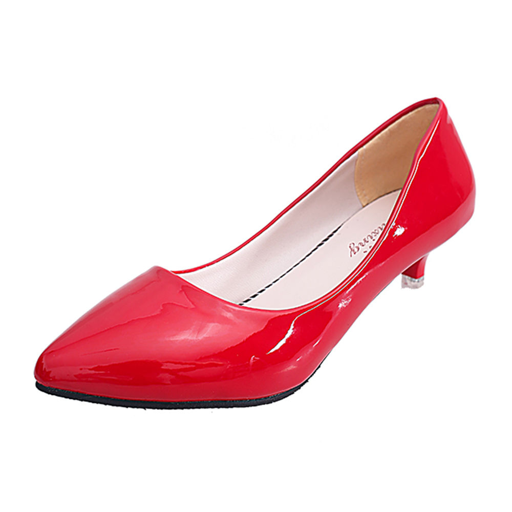 670ae7c5cca Hopscotch - Trendy shop - Women Red Kitten Heel Pumps