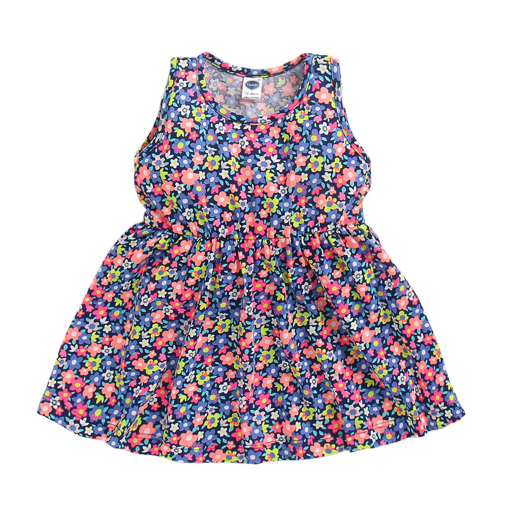 34cd9473d453 Hopscotch - Teddy - All Over Floral Printed Sleeveless Dress