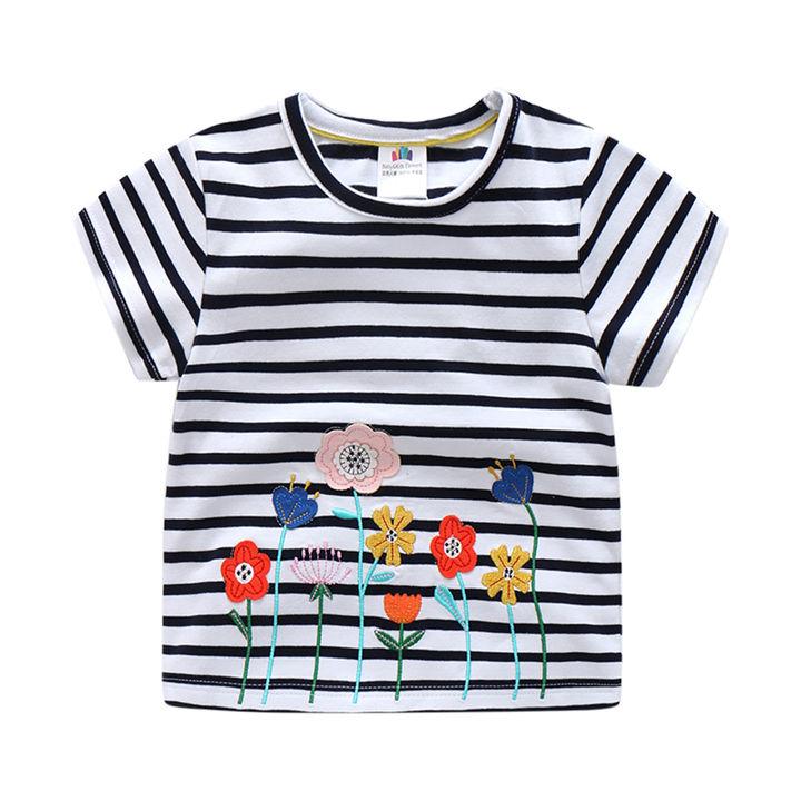 24aa54db3 Hopscotch - BKE - Black Striped Design Half Sleeve T-Shirt