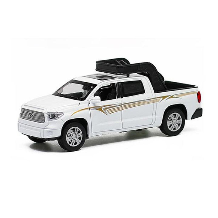 1:32 Die Cast Metal Body White Toyota Pickup Truck Car Toy with Light and  Sound Effects
