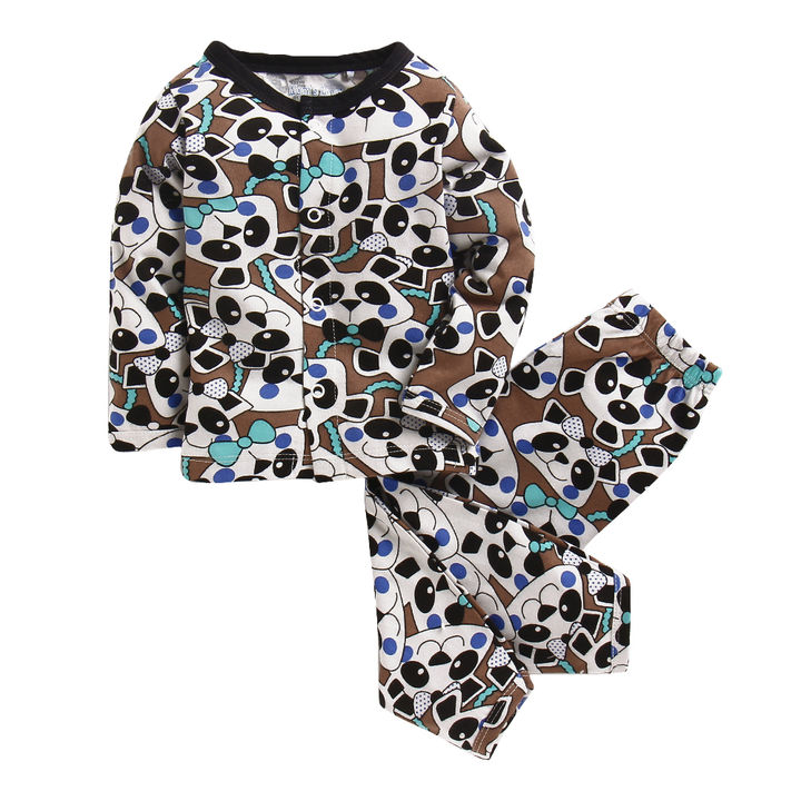 997fb4d75 Hopscotch - Mom s Love - Beige Panda Print Nightwear Set
