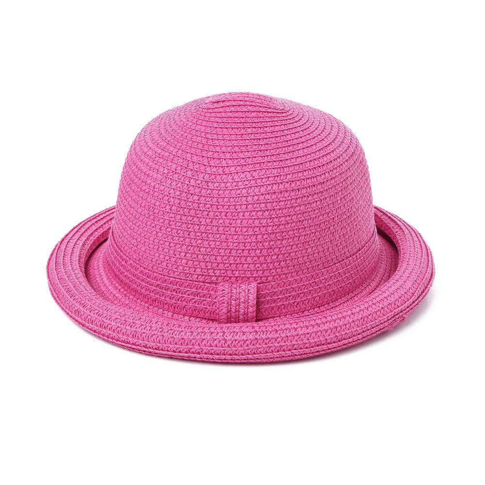Hopscotch - Seven Rainbows - Round Bowler Hat - Fuchsia 4436701e274