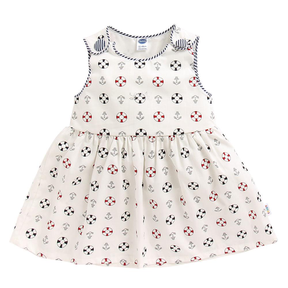 8b5bf7e959c3 Hopscotch - Teddy - White Printed Casual Dress