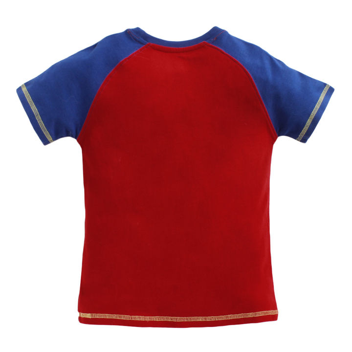 ace894dd Hopscotch - JusCubs - Graphic Print Raglan Sleeves Red T-Shirt