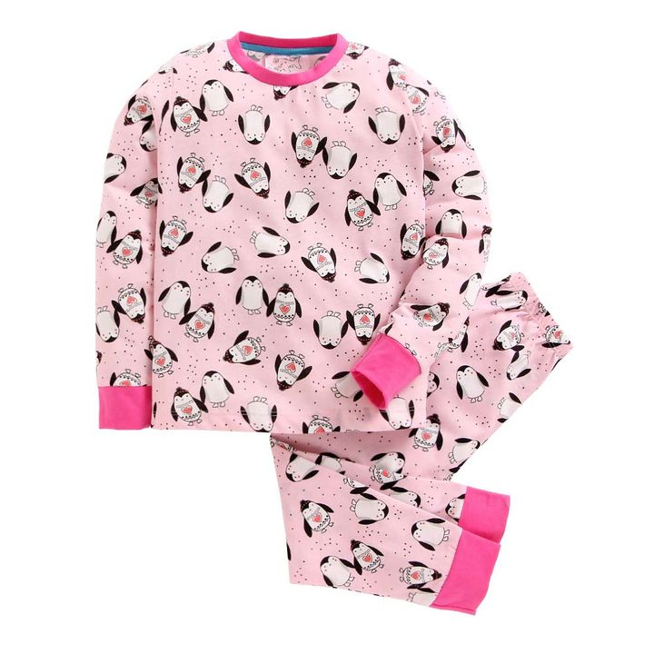 94d1729514 Hopscotch - Lazy Shark - Pink Penguin Print Nightwear Set