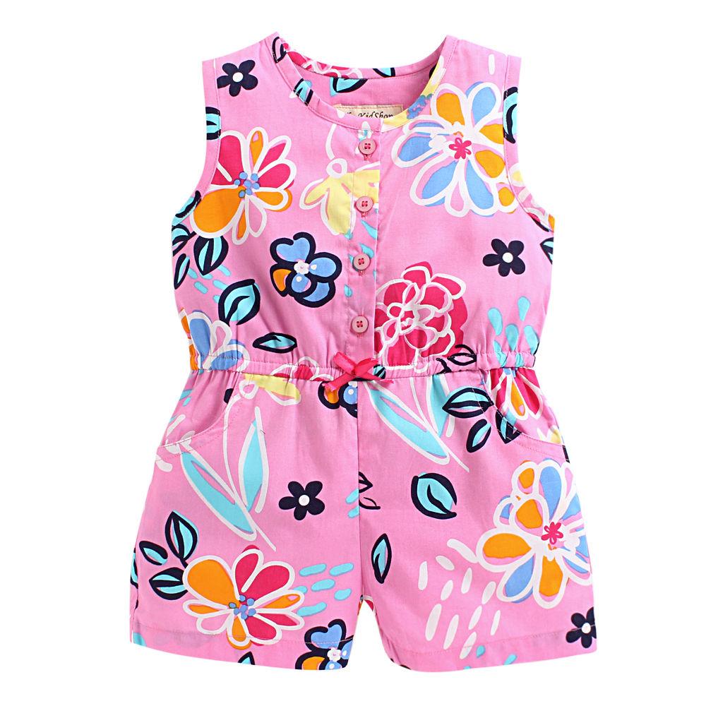 330704142ab Hopscotch - The KidShop - Floral Printed Jumpsuit - Pink