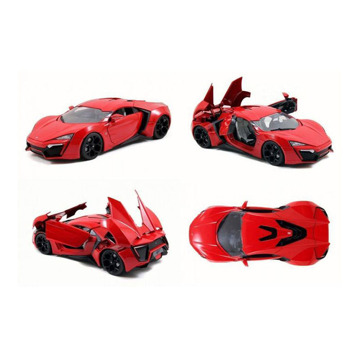 Red 1:32 Die Cast Metal Fast and Furious Luxury Pull Back Car Toy with  Light and Sound Effects