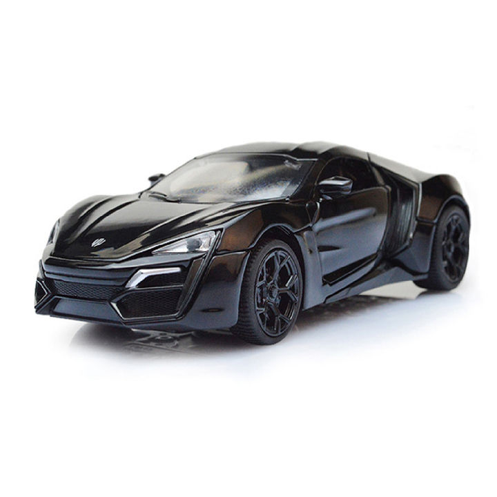 Black 1:32 Die Cast Metal Fast and Furious Luxury Pull Back Car Toy with  Light and Sound Effects