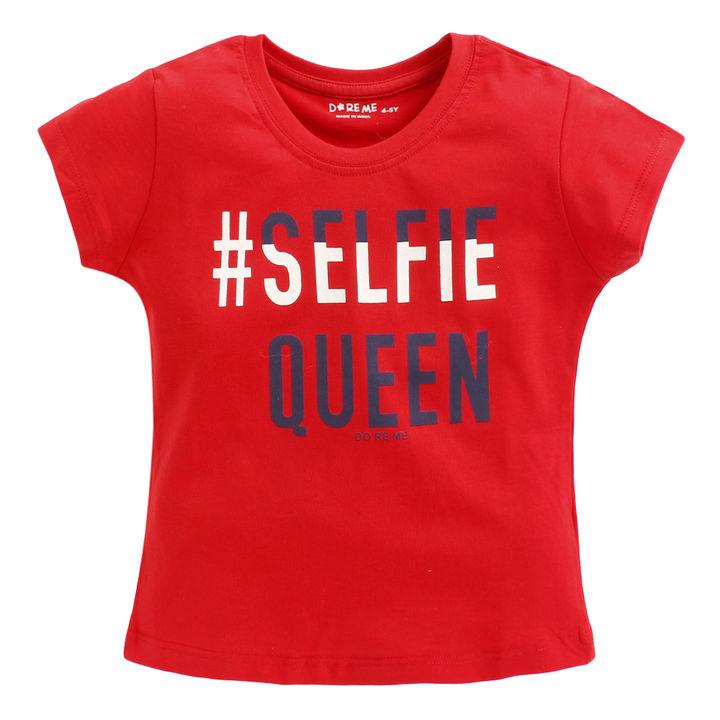06e8758eb Hopscotch - Do Re Me - Selfie Queen Printed T-shirt - Red