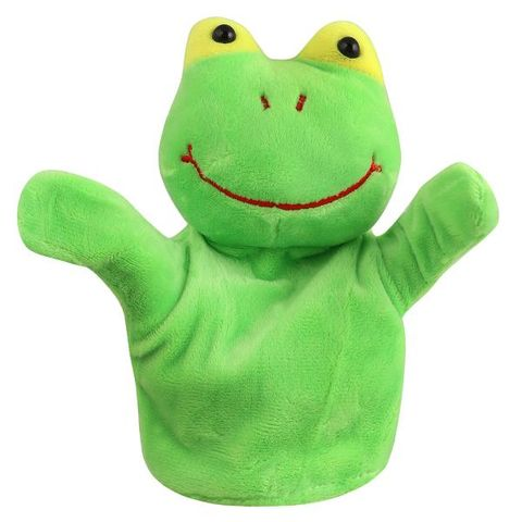 85180f636d0d Frog Animal Soft Toy Hand Puppets for Kids