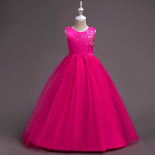 a80d4661f61 Hopscotch - Si Rosa - Charming Pink Embroidered Full Length Party Dress