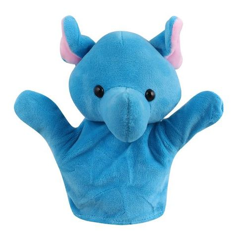 14bc43ff6ec7 Blue Elephant Animal Soft Toy Hand Puppets for Kids
