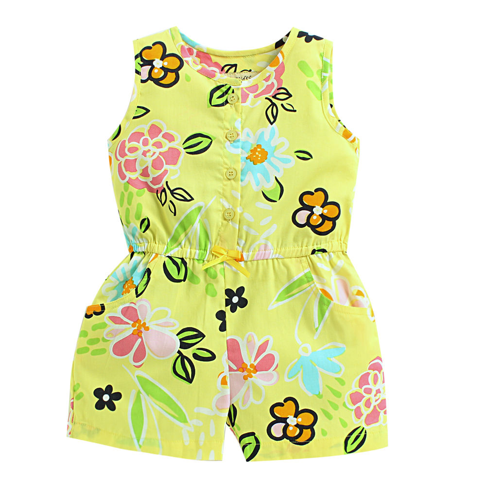 0cc9ad5b690 Hopscotch - The KidShop - Floral Printed Jumpsuit - Yellow