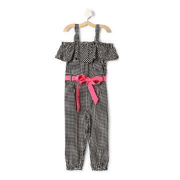 eac43059006 Hopscotch - The KidShop - Red Butterflies on Black Jumpsuit with ...