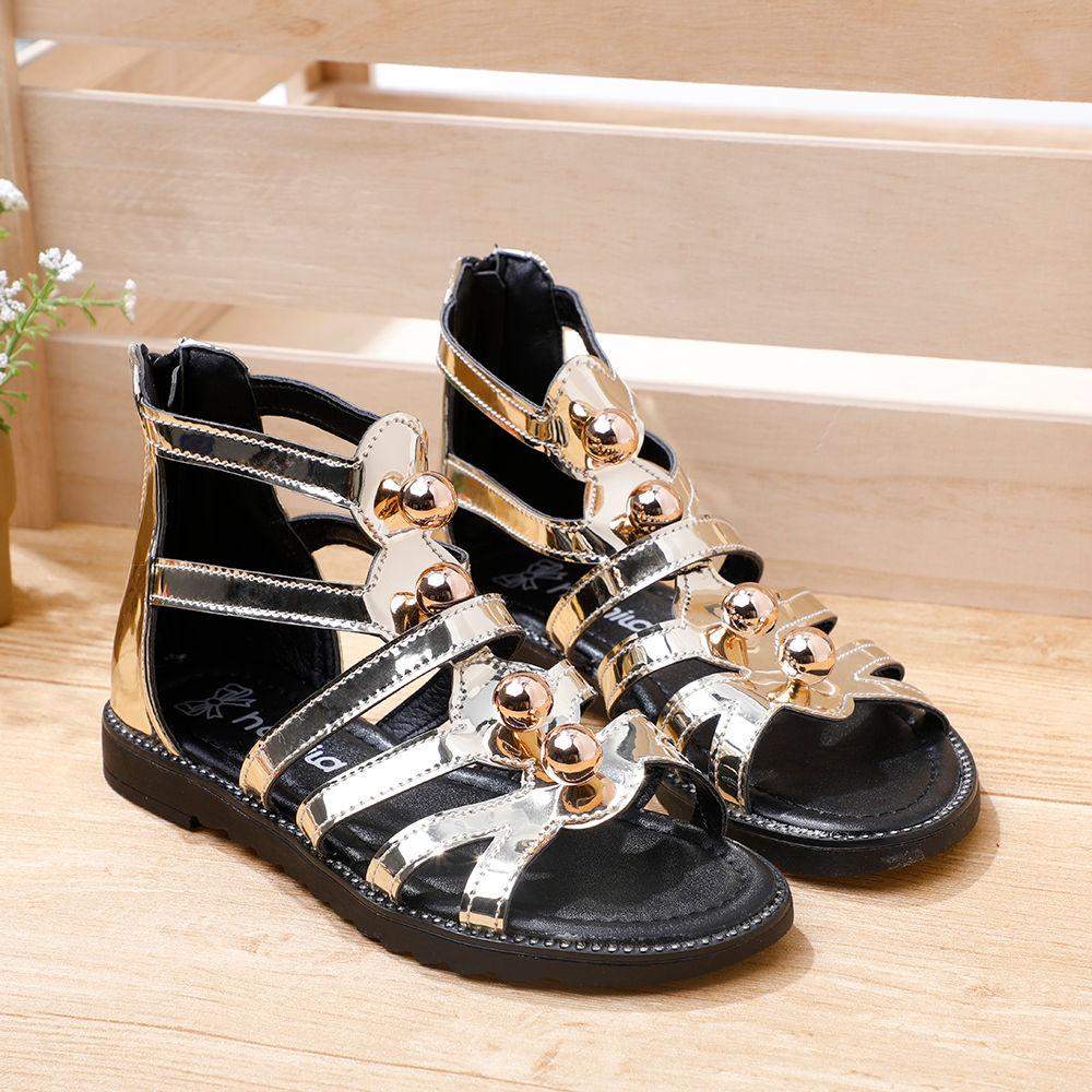 Gold Gold Metallic Gladiator Gladiator Metallic Sandals Sandals Ybgf76yv