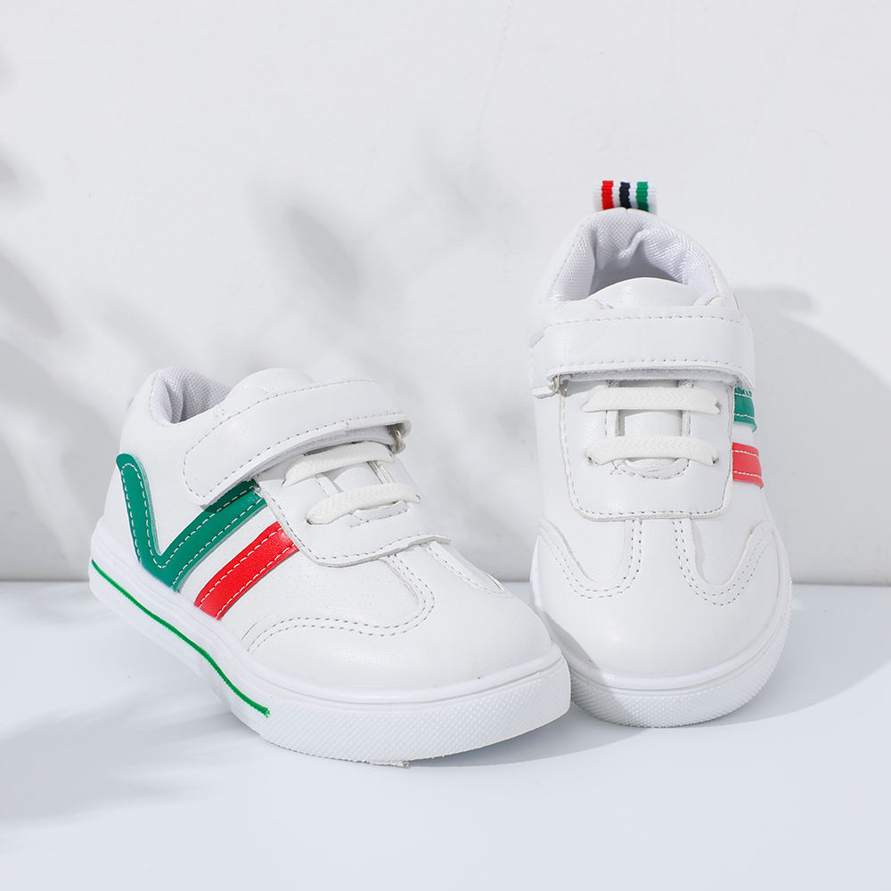 Buy White Sneakers With Red And Green