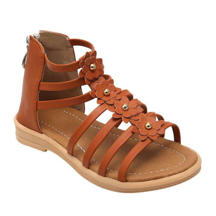 8630469600ca Hopscotch - Dchica - Tan Stylish Ankle Gladiator Sandals