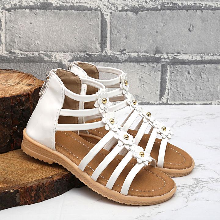 4e6bf912f2f6 Hopscotch - Dchica - White Strapy Ankle Length Gladiators
