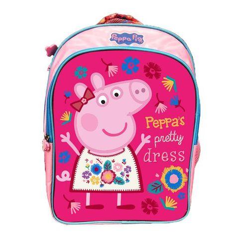 cf9649e9c53 Peppa Pig Pretty Dress Velcro School Bag 36 cm