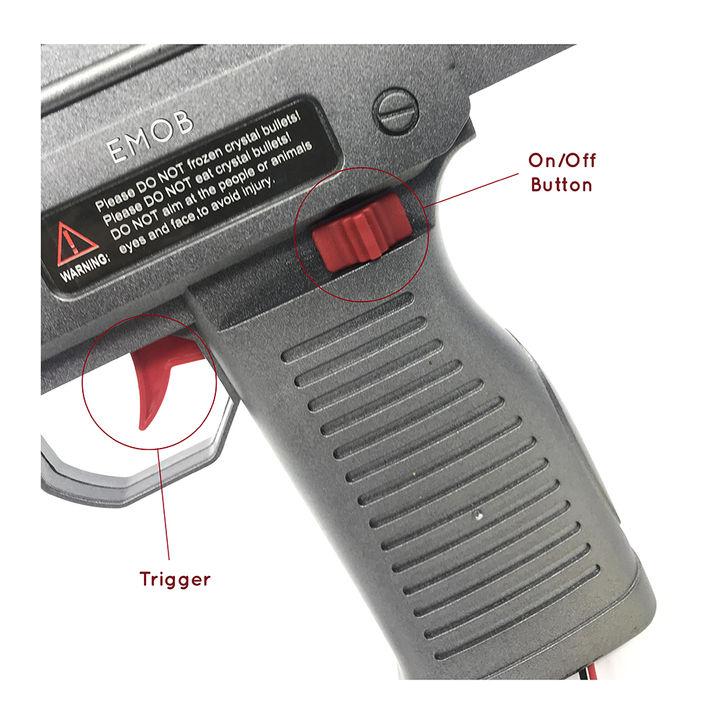 Emob Mini Uzi Police Regimental Shooting Machine Gun Toy With 5000 Crystal  Bullets