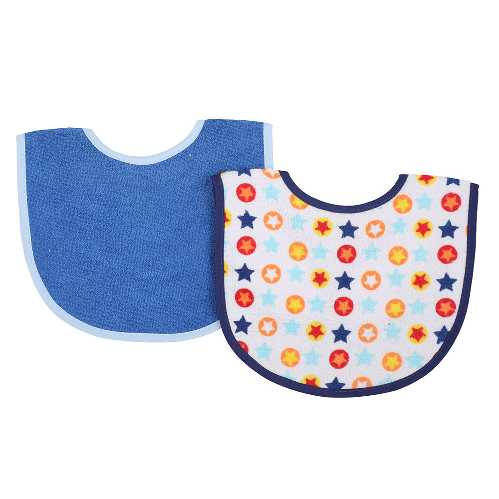 Baby Cotton Bibs with Touch Fastening 750 Unisex 4 Pack