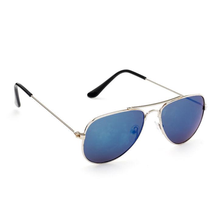 91dfdd329bb Hopscotch - Mirta - Green Reflector With Silver Frame Aviator Sunglasses
