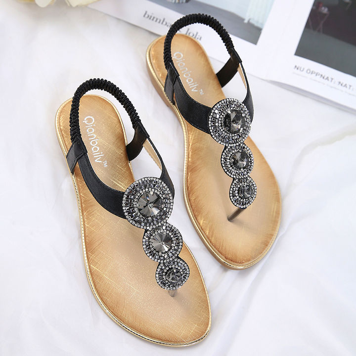 1d2b7da3dcb5 Hopscotch - SIKETU - Women Black Beaded Strapy Sandals