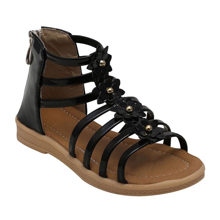 49aba9275b5f Hopscotch - Dchica - Black Ankle Length Gladiators