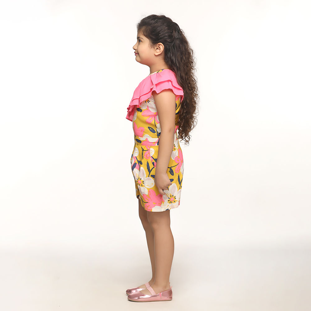 f0e8b648c4d8 Hopscotch - Lilpicks couture - Yellow Neon Printed One Side Shoulder ...