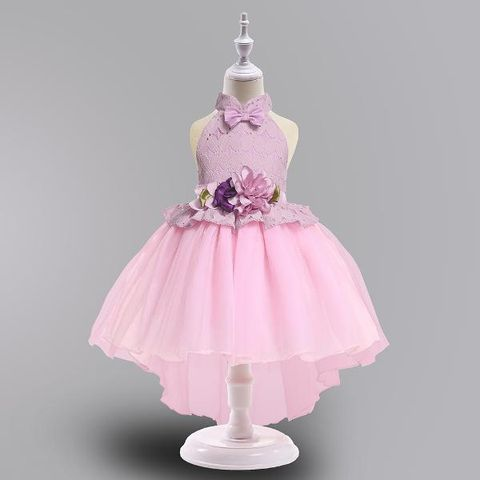 6d8bade951d Stylish Pink Applique Bow Sleeveless Party Dress