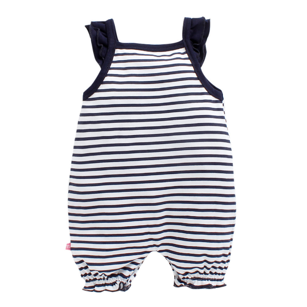 75cdadb68ef4 Hopscotch - Mom s Love - Navy Love Mummy Daddy Print Girls Fashion Romper