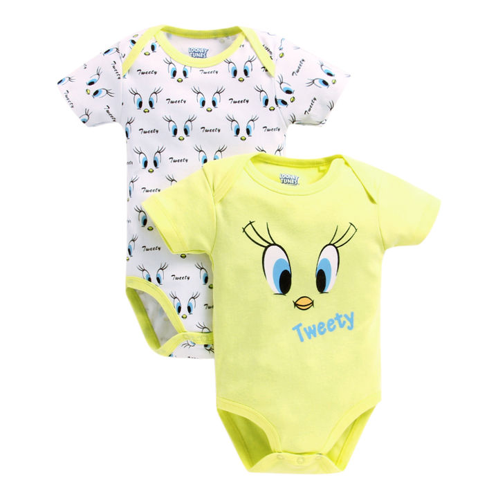 20a30e95e Hopscotch - Mom's Love - Yellow and White Tweety Girls Bodysuit - Pack of 2