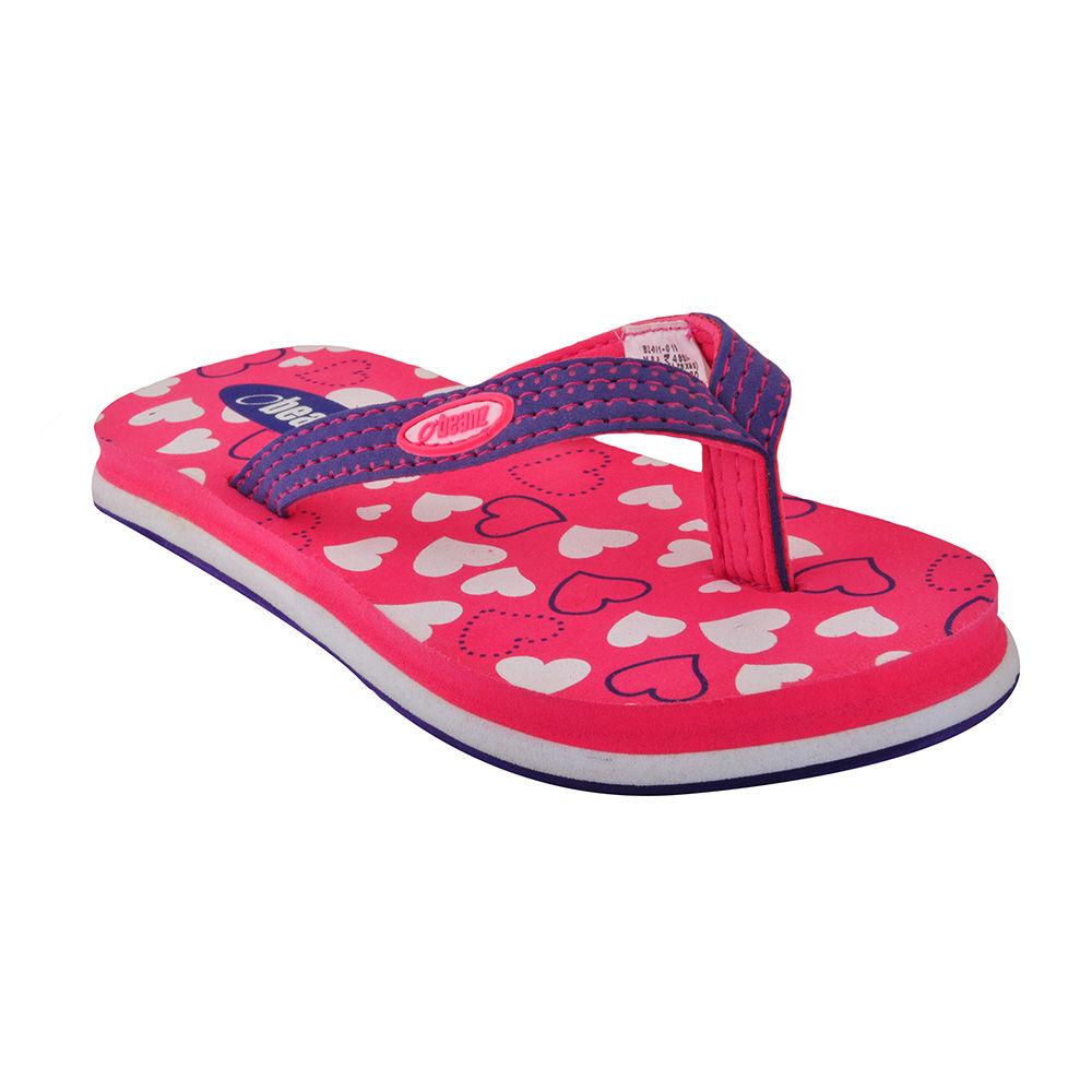 874f111ef Hopscotch - Beanz - Little Hearts Printed Pink Flip Flops