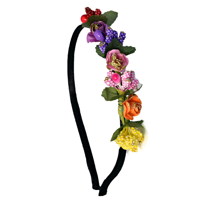 Multicolored Floral Applique Hairband