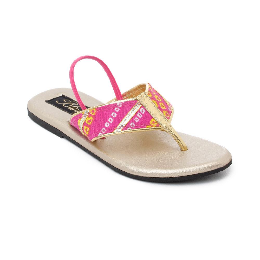 Pink Pink Bandhani Sandals Flat Sandals Bandhani Pink Flat Flat Sandals Pink Bandhani erCoxBd