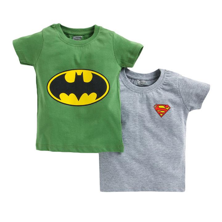 a524413e6a08f Hopscotch - Game Begins - Green Half Sleeves Superman Batman T-Shirt Pack  Of 2