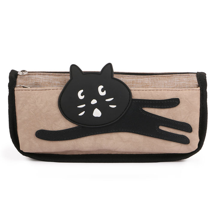 9b33de1574 Hopscotch - INSTABUYZ - Double Zipper Cat Design Pencil Pouch Organizer For  School Kids Pencil Case For Girls & Boys