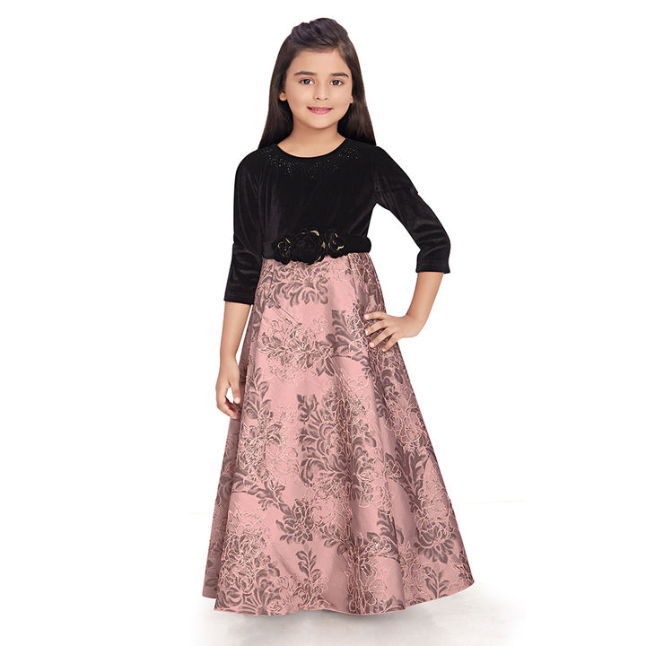 d0926fda51 Buy Pink Printed Party Wear Gown online @ ₹3700 | Hopscotch