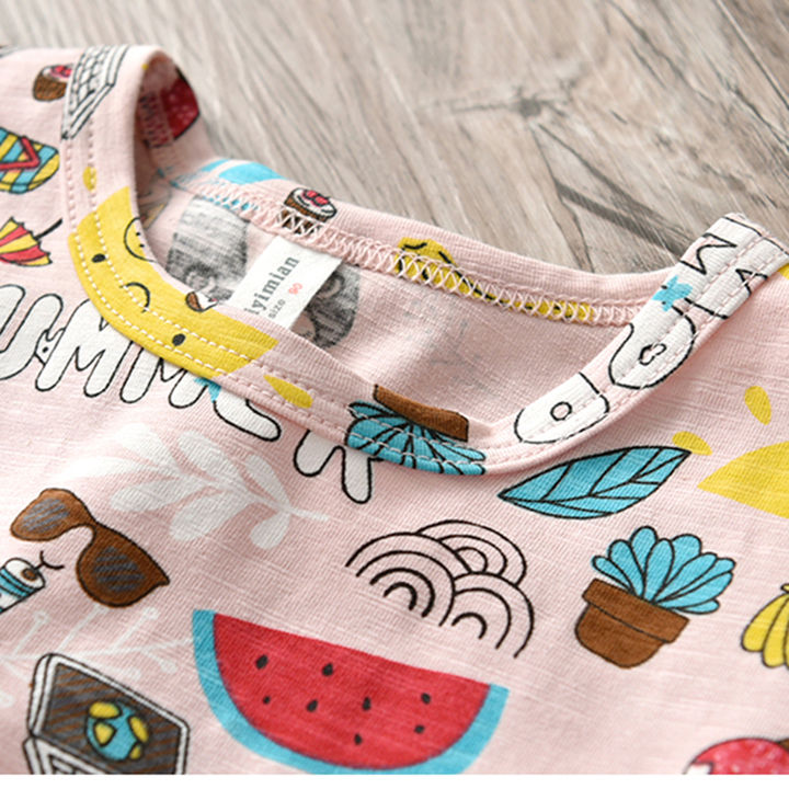 d2d81ee51 Hopscotch - Aile Rabbit - Pink All Over Printed Half Sleeves Top For Girls