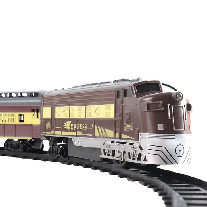 Remote Control High Speed Classic Model Train Track Set Toy with Dazzling  Lights and Sound Effects