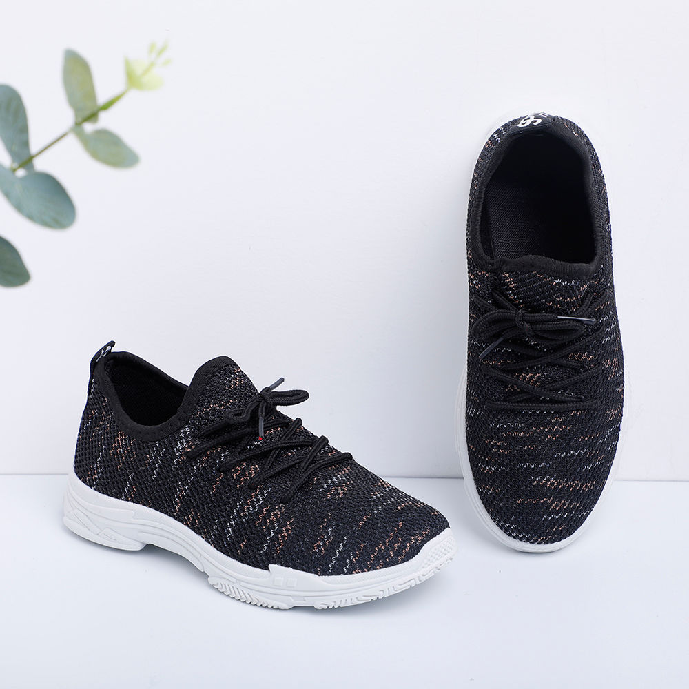 Black Lace Up Athletic Shoes