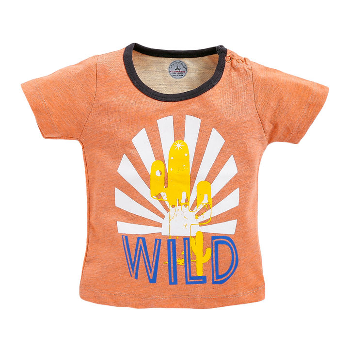 3531bf90 Hopscotch - Mini Donut - Wild Cactus Print Half Sleeve T-Shirt and Short  Set - Orange