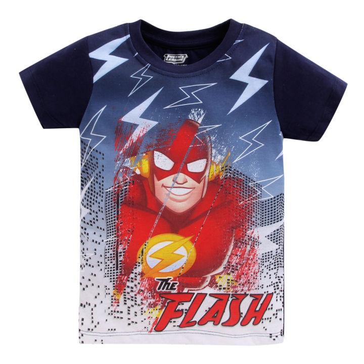 2699db963 Flash Printed Half Sleeve Navy T-Shirt