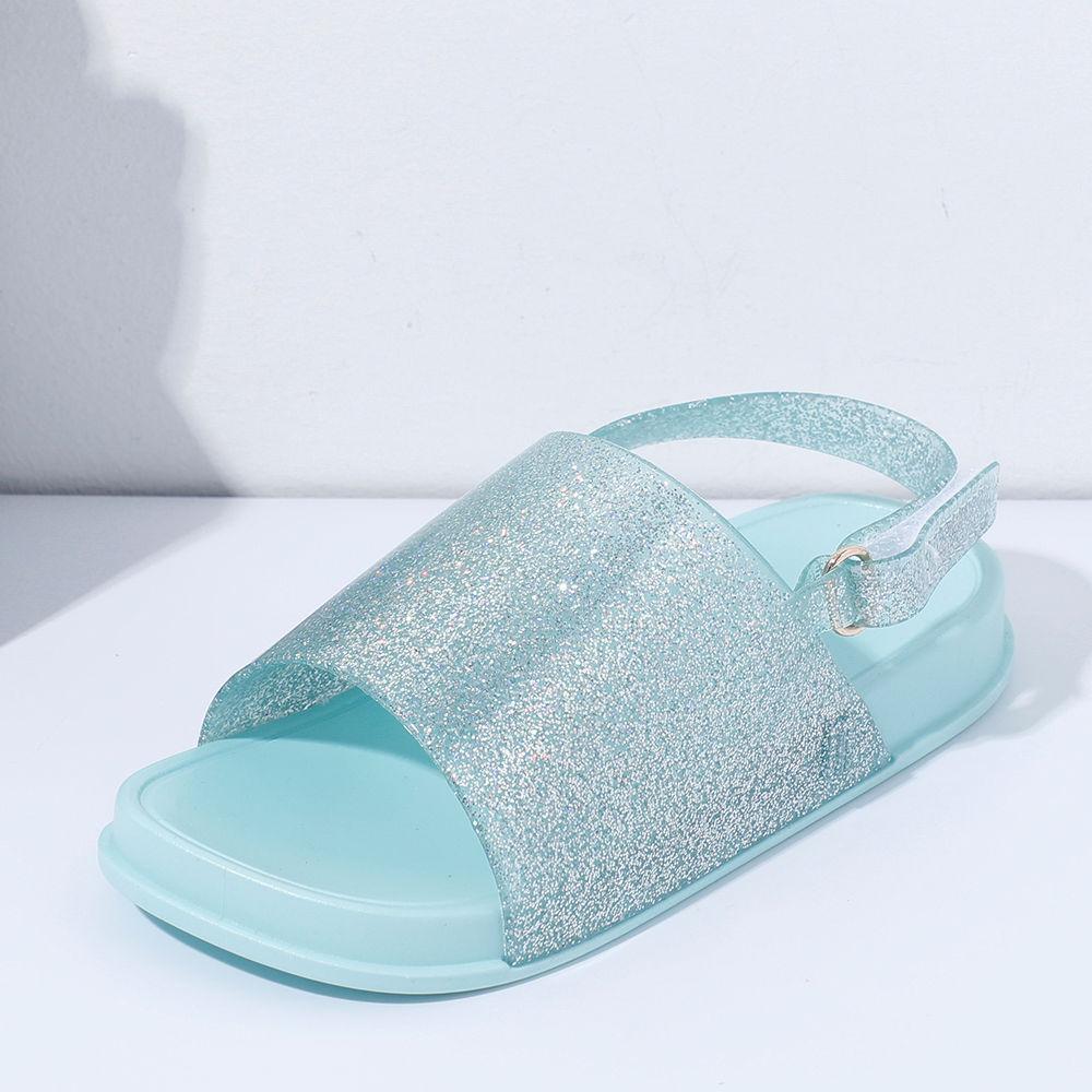 Glittered Velcro Sandals Velcro Aqua Sandals Jelly Jelly Glittered Aqua Glittered Aqua oBWdCrxe
