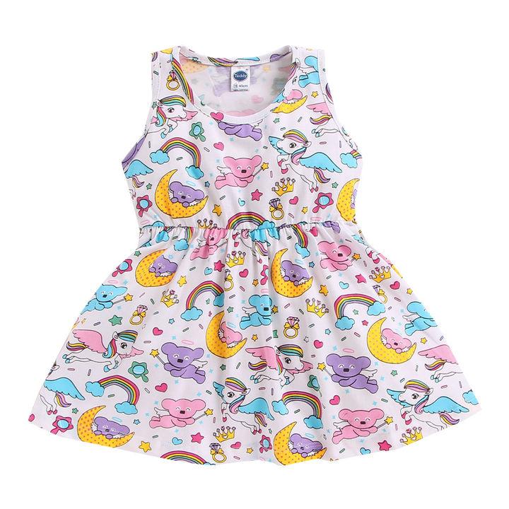 8c9f2bb28f0a Hopscotch - Teddy - White Cute Bear And Unicorn Print Dress