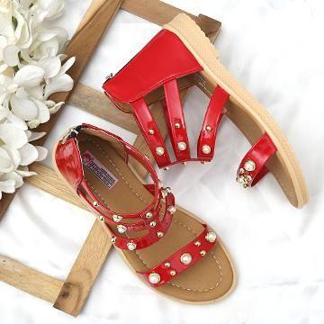 b765763a1608 Hopscotch - Dchica - Golden Shimmer Ankle Length Gladiator For Girls