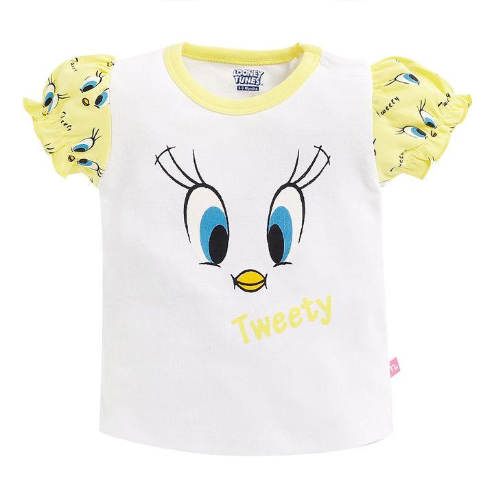 e10bcbddb Hopscotch - Mom's Love - Tweety Print Round Neck Top and Skirt Set - White