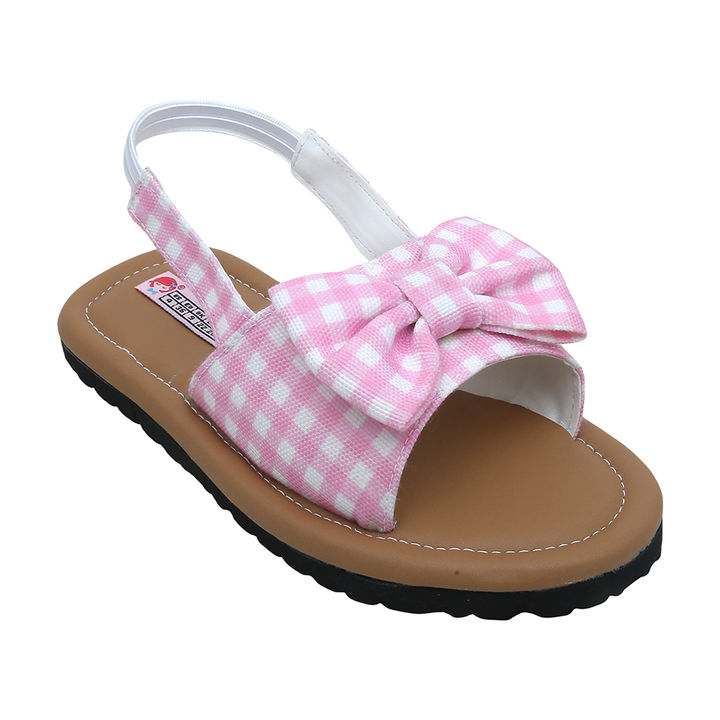 4db699cc8dc5 Hopscotch - Dchica - Pink Adorable Checks Sandals For Girls